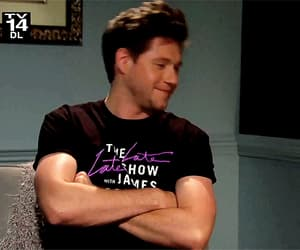gif, the late late show, and niall horan image