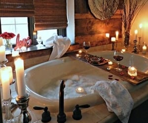 candle, relax, and bath image