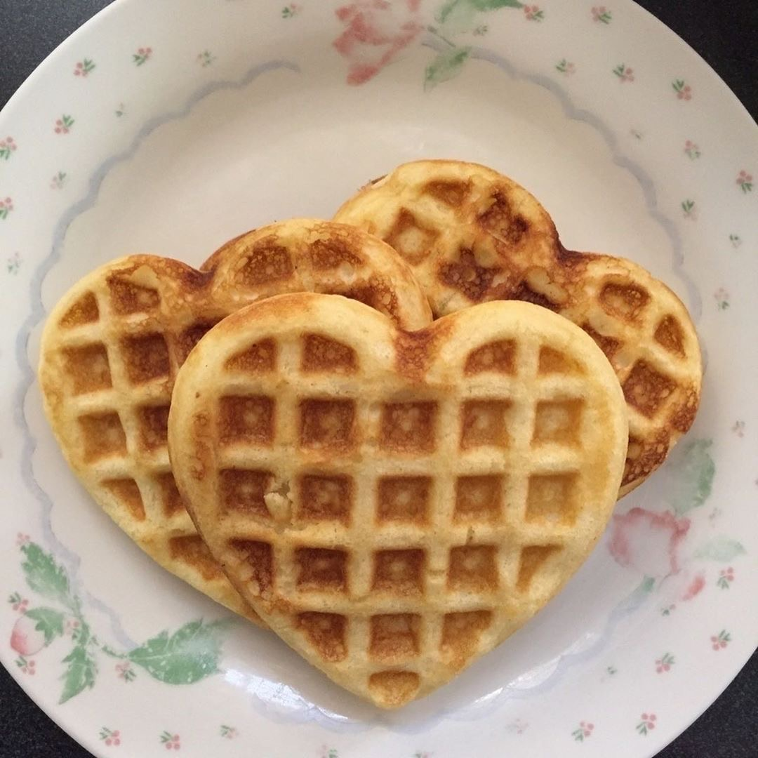 waffles, aesthetic, and food image