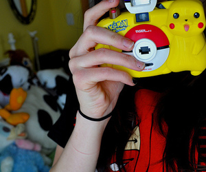 pokemon, girl, and camera image