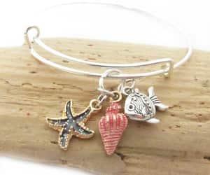 charm bracelet, etsy, and beach jewelry image