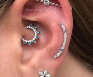 ear, ear piercings, and jewelry image