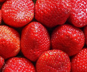 strawberry, food, and wallpaper image
