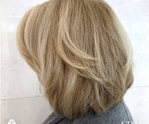 short hair, hair color, and short blonde hair image