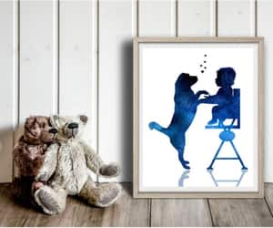 etsy, baby and dog, and labrador print image