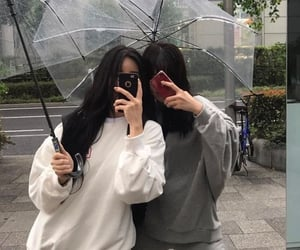 girl, umbrella, and aesthetic image