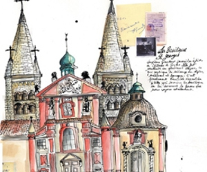 prague, watercolor, and illustration image