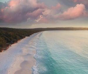 ocean, beautiful, and pink image