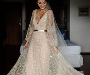 dress, simple, and long sleeves image