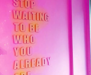 glow, pink, and quotes image