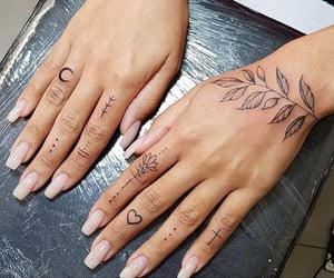 delicate, flower, and hands image