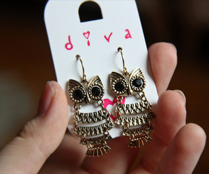 owl, earrings, and diva image