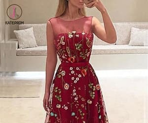 ball gown, prom dress, and burgundy prom dress image
