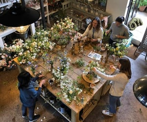 activity, florist, and flower image