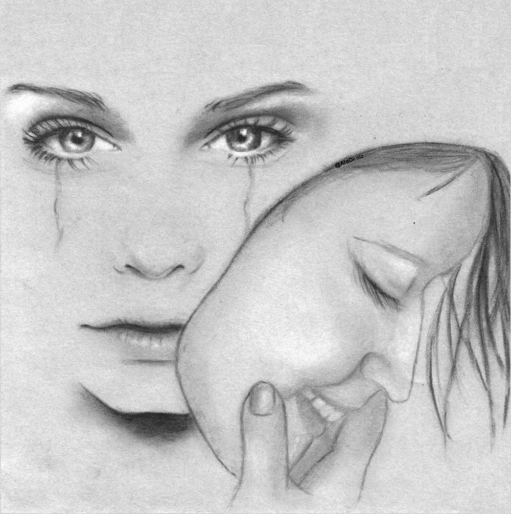 unique drawing of love image