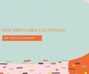cute calendar 2020, blank calendar, and printable calendars image