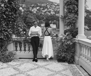 black and white, couple, and italy image