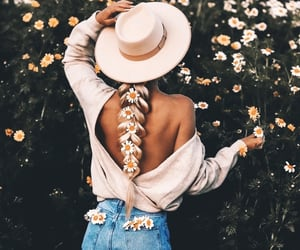 daisy, fashion, and flowers image