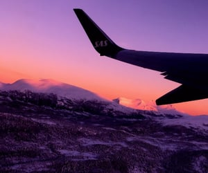 airplane, mountains, and nature image