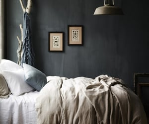 cozy bedroom, 2020 decor trends, and matte black wall image