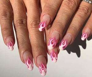 nails, pink, and inspo image