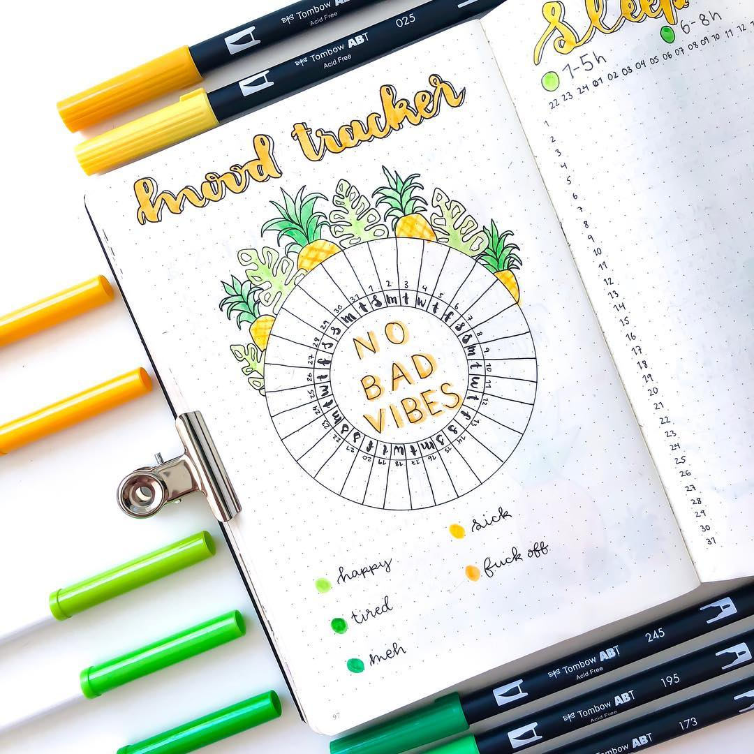 article, bullet journal, and bujo tracker image