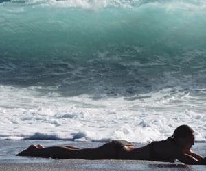 beach, waves, and lovingit image