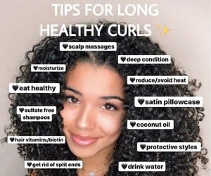 curls, hair tips, and diy image