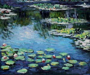 art, monet, and picture image