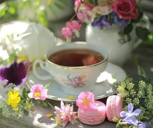 beautiful, cup of tea, and spring image