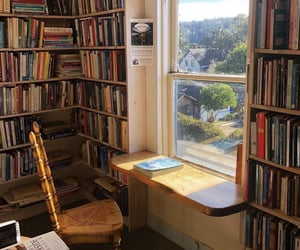 books, home, and window image