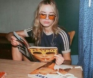 aesthetic, girl, and read image