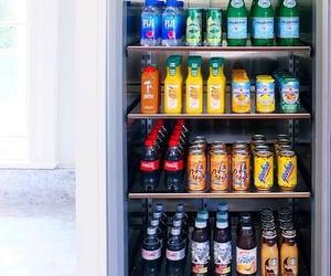 fridge, coke, and orange juice image