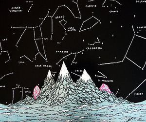 stars, constellation, and drawing image