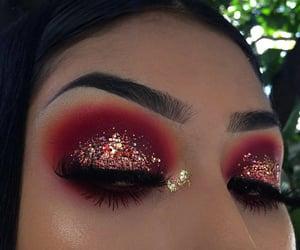 eyeshadow, glitter, and makeup image