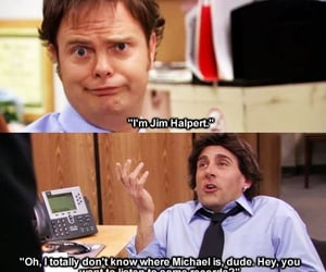 dwight schrute, funny, and jim halpert image