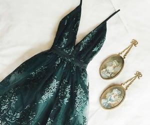 green, dress, and fashion image