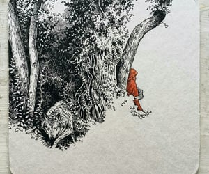 forest, drawing, and fairy tale image