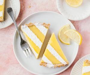 lemon, lemon tart, and tart image