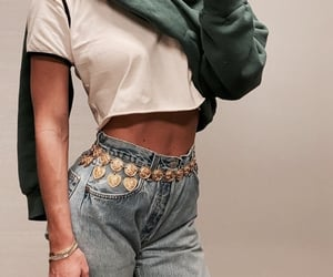 accessories, denim, and inked image