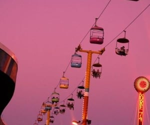 pink, sky, and fun image