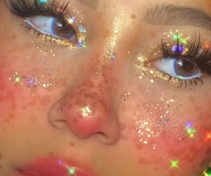 girl, aesthetic, and glitter image