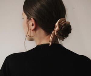 style, black, and bun image