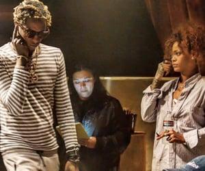 rihanna, riri, and young thug image