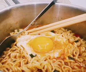 egg, noodle, and film image