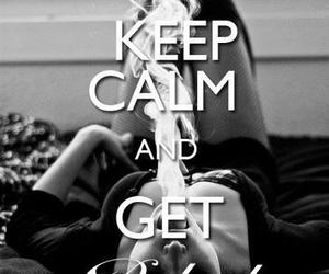 baked, weed, and keep calm image