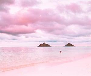 pink and sea image