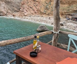 beach, restaurant, and sea image