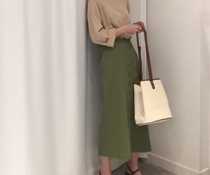 beige, skirt, and fashion image