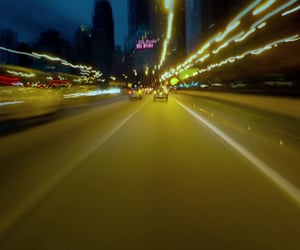 car, night, and speed image